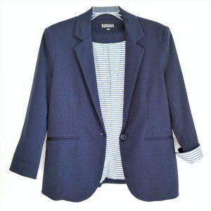 Nichole Miller Navy Single Button Blazer Size S
